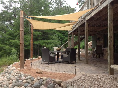 Sail Shades and trunks for poles   Shade sails patio