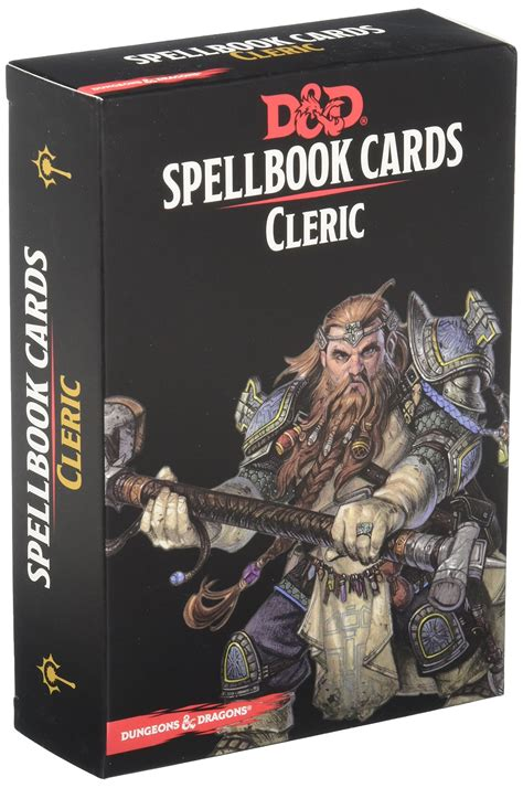 Dungeons Dragons DD Spellbook Cards 5E 5th Edition: Cleric