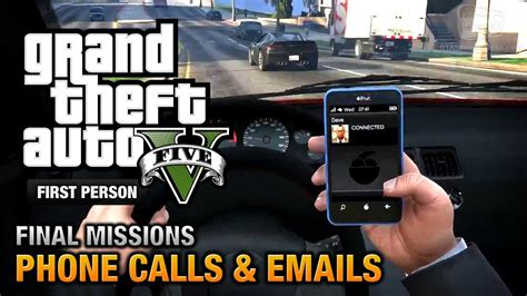 GTA 5 - Phone Calls & Emails after Final Missions [PS4