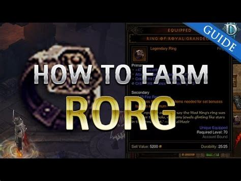D3 RoS - How to Farm Ring of Royal Grandeur - YouTube