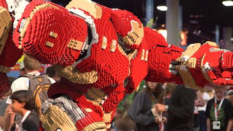 Comic-Con Lego sculpture pits Hulkbuster Iron Man against