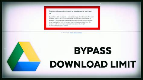 How to Bypass Google Drive Download Limit [2017] - YouTube