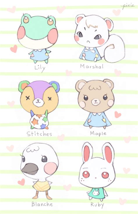 Some villagers from Animal Crossing! - mink & mango