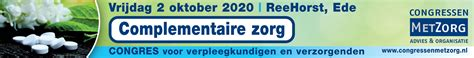 Complementaire zorg | 2 oktober 2020 | ReeHorst, Ede
