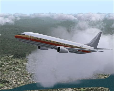 Southwest Airlines Boeing 737-400 EXAA for FS2004