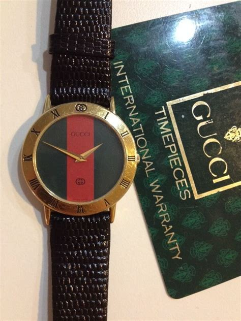 ☀️ GUCCI 3000M 18K Gold Plated Roman Numeral Bezel Round