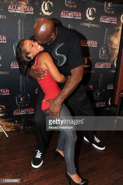 """Nicole """"Hoopz"""" Alexander and Former NBA Player Shaquille O"""