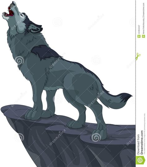 Howling wolf stock vector