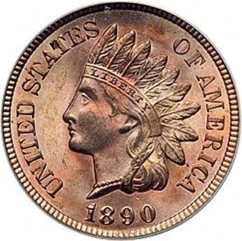 1 cent from year 1890 - UNITED STATES Indian Head coin