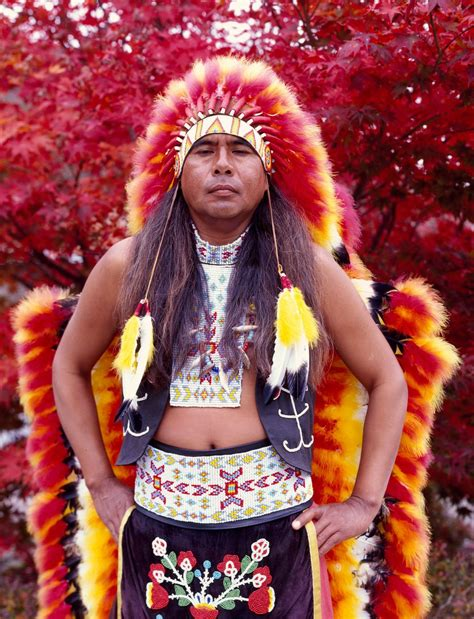 Dennis Wolfe, a full-blooded Cherokee indian in Cherokee
