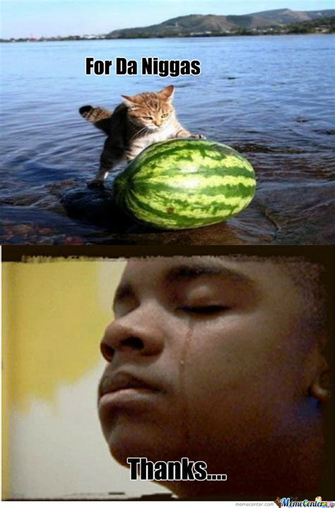 [RMX] Cat Pushing Watermelon Out Of A Lake by recyclebin
