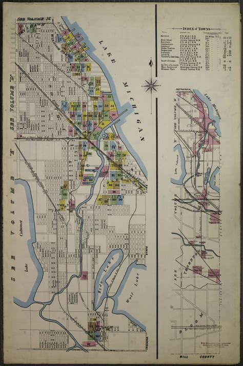 Sanborn Fire Insurance Map from Chicago, Cook County