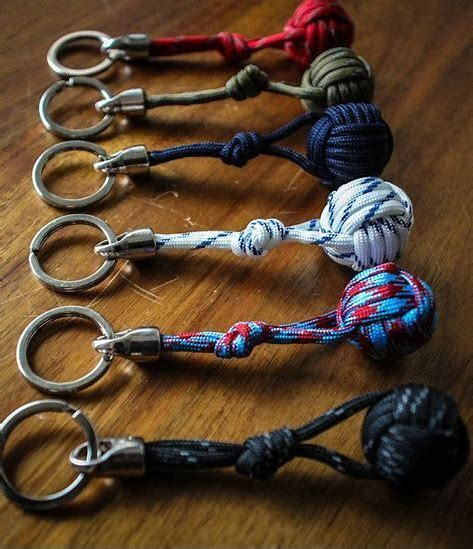 Image result for monkey fist paracord keychain