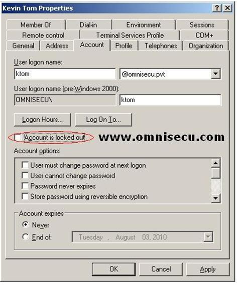 How to unlock an Active Directory Domain User Account