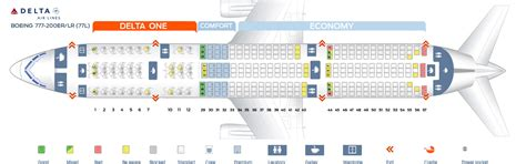 Seat map Boeing 777-200 Delta Airlines