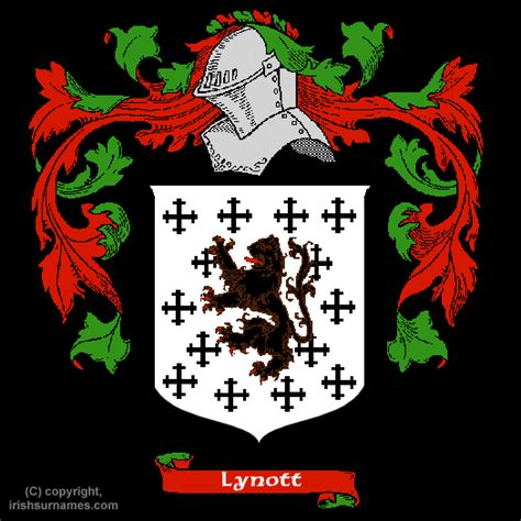 Lynott family crest and meaning of the coat of arms for