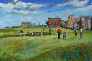 Original St Andrews Links paintings on sale - Golf Monthly