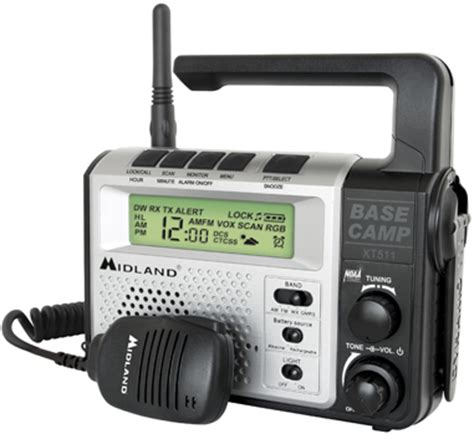 Midland XT511 Weather Band - GMRS - AM/FM Crank Powered