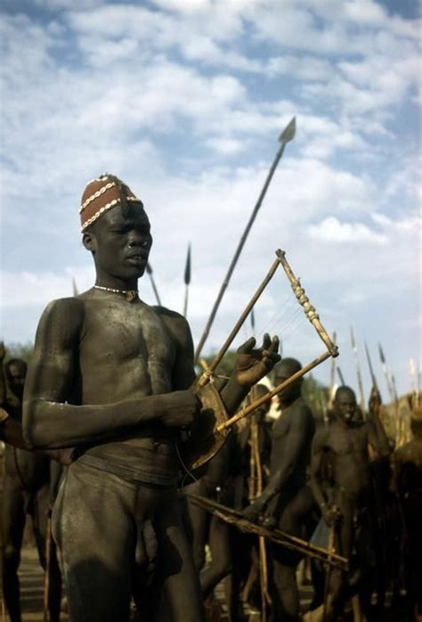 Africa   A gathering of the Nuba tribe in the Korongo
