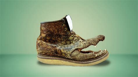 Absurd Photo Manipulation [Shoe and Crocodile] in