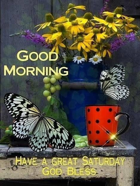 Two Butterfly Good Morning Great Saturday Pictures, Photos