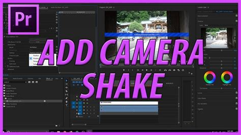 How to Add Camera Shake in Adobe Premiere Pro CC - YouTube