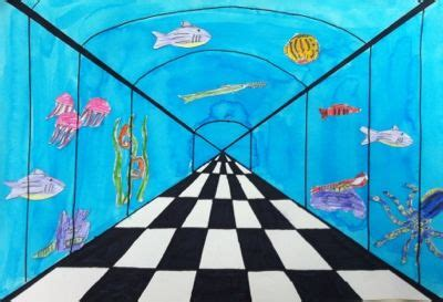 My Messy Art Room: 5th grade one point perspective under