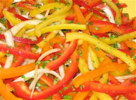Three Pepper Salad Recipe, Whats Cooking America