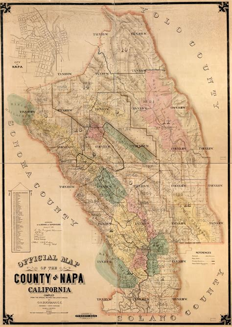 Official map of the County of Napa, California : compiled