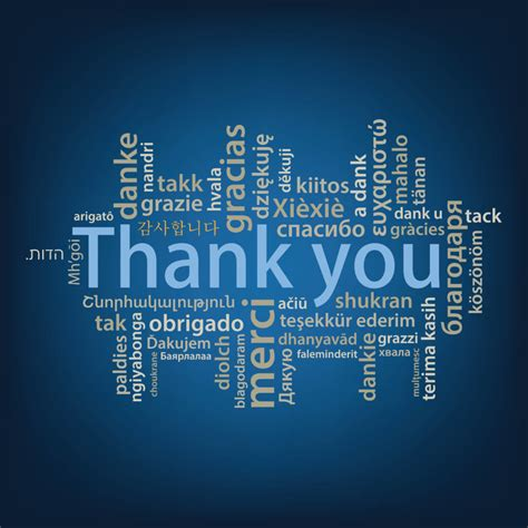 Thank you tag cloud in many languages – Team PHenomenal Hope