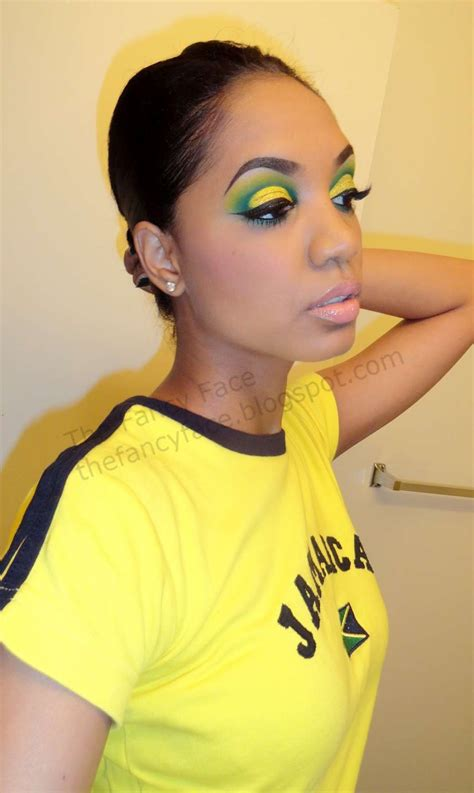 The Fancy Face: MAKEUP LOOK   Jamaica 50 + Olympics Inspired