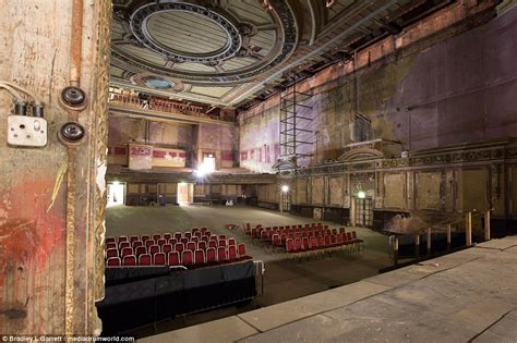 London's Alexandra Palace's the main theatre stage is left