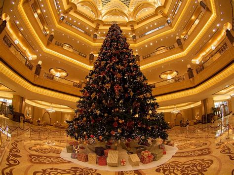 The Emirates Palace Hotel Constructs $11M Christmas Tree