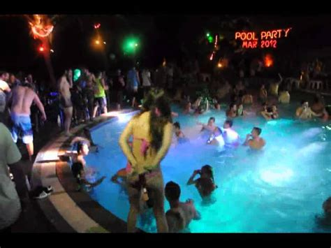 Pool party at coral bungalows , March 2012 - YouTube