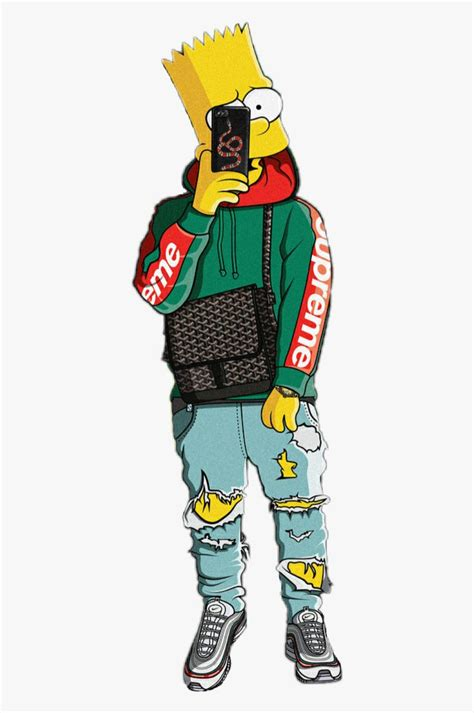 Download and share Bart Simpson Bape Money Trap Rich Yeezy