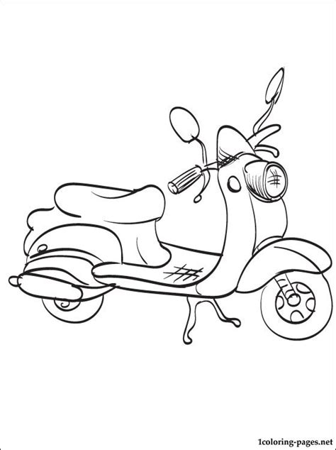 Coloring page moped | Coloring pages