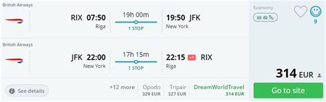 CHEAP flight tickets to NEW YORK from the Baltic States