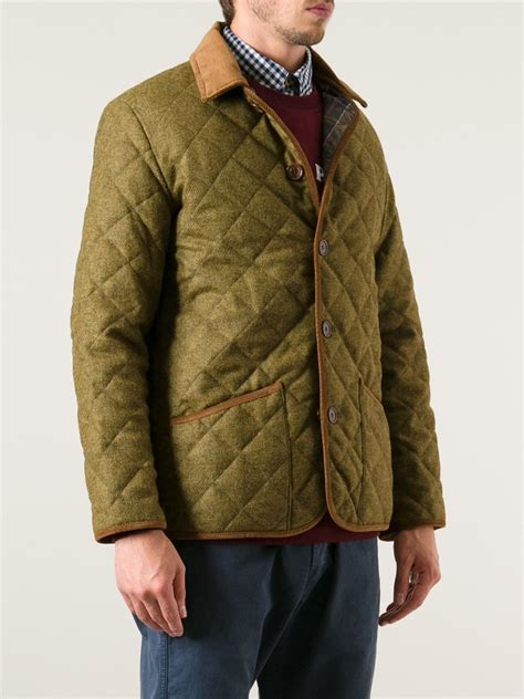 Barbour Quilted Jacket in Brown (Natural) for Men - Lyst