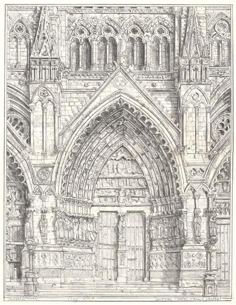 richard britell Image + Text: Drawing Amiens Cathedral