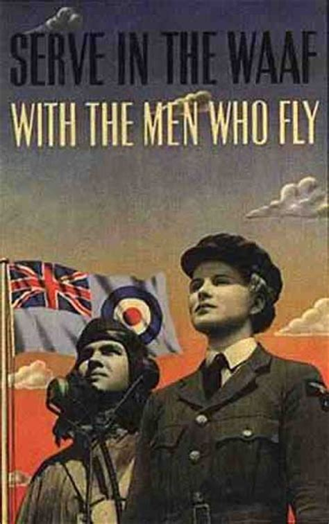 British WWII Posters - WAAF (Women's Auxiliary Air Force)