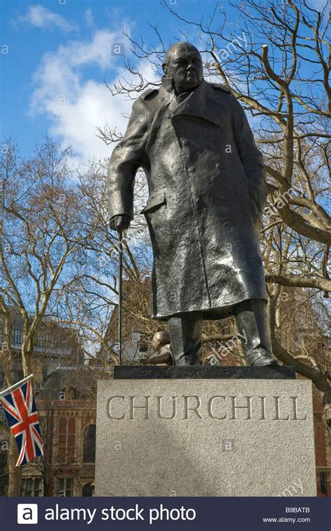Statue of Sir Winston Churchill at Parliament Square