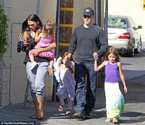 A beaming Matt Damon and wife Luciana the day after they