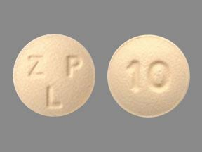 ZLP 10 Pill Images (Yellow / Round)