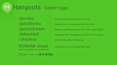 """Google Hangouts """"easter eggs"""" revealed, include ponies and"""