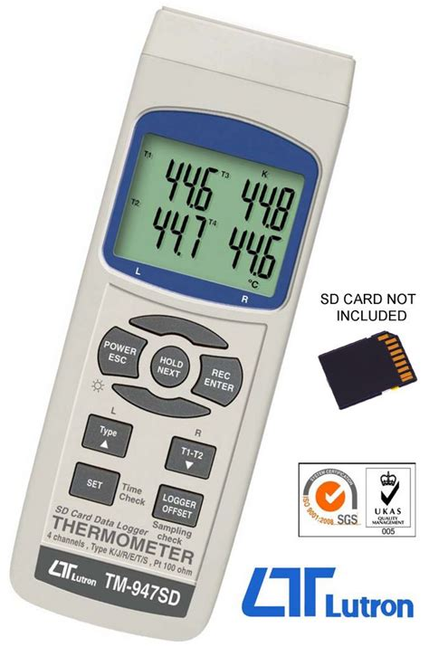 TM-947SD Four Channel Thermometer, Temperature   Wagner