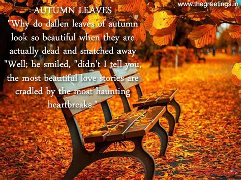 Autumn Leaves quotes, Best, sayings, Meassage - The Greetings