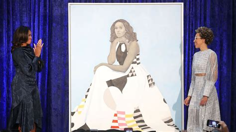 Michelle Obama's Official Portrait by Amy Sherald