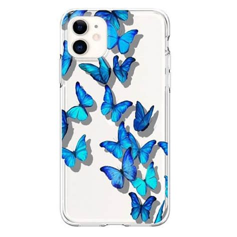 Blue Butterflies Phone Case Cover For iPhone 11 Pro Max Xs