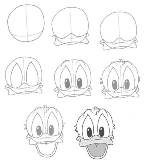 DRAWING-DONALD-DUCK-FACE