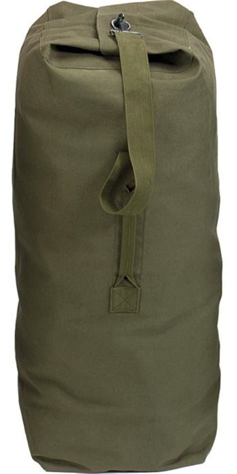 Olive Drab - Military Large Top Load Duffle Bag - Cotton